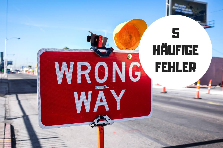5 Häufige adwords Fehler